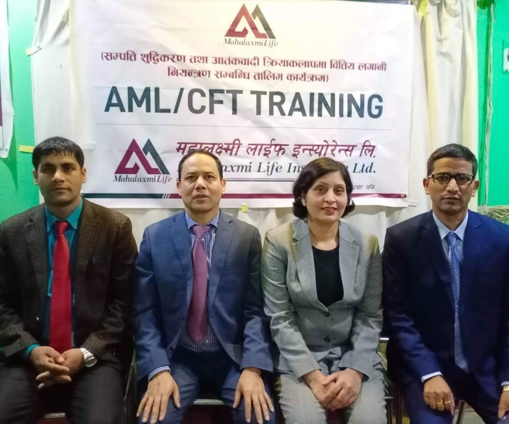 Mahalaxmi Life Insurance Ltd. conducted AML/ CFT Training at Dhangadi