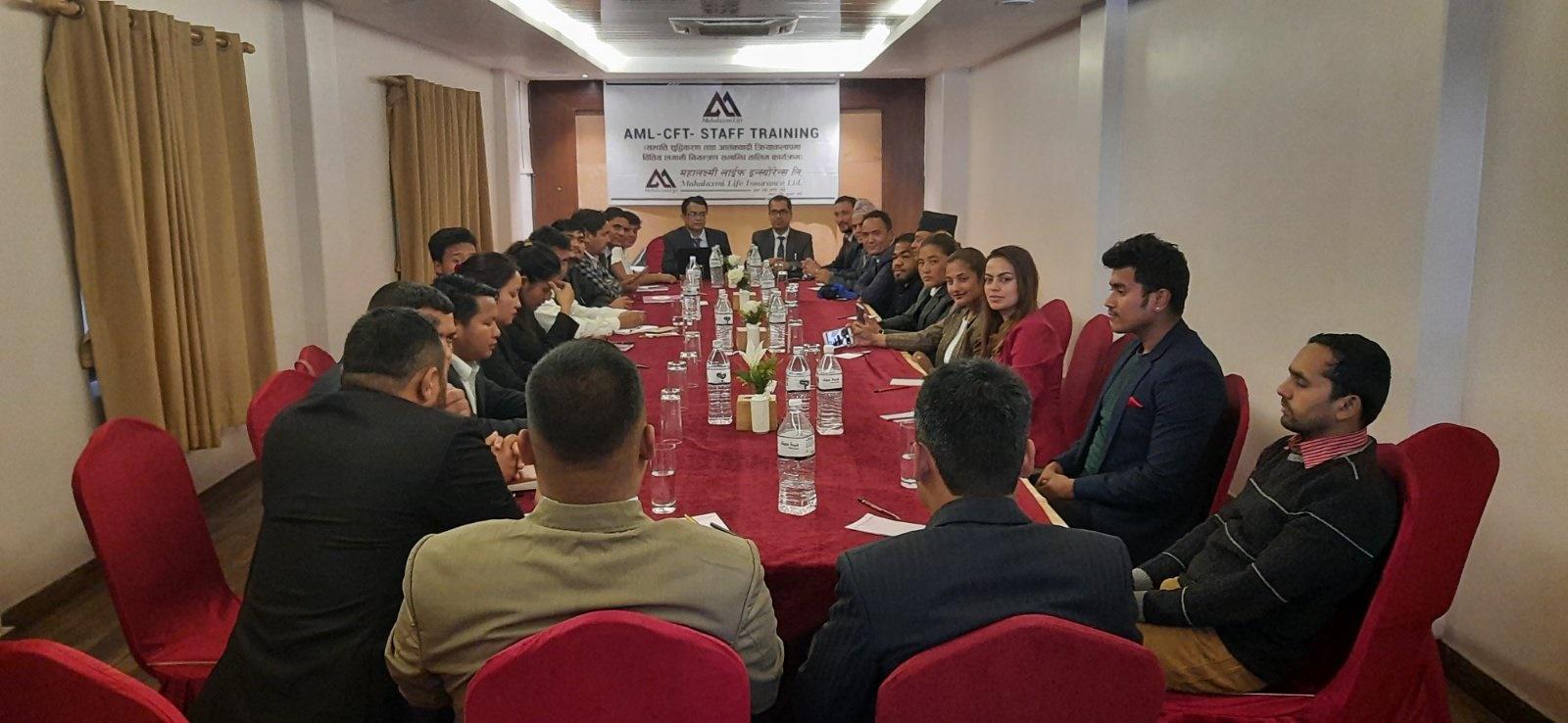 Mahalaxmi Life Insurance Ltd. conducted AML-CFT Training in Pokhara