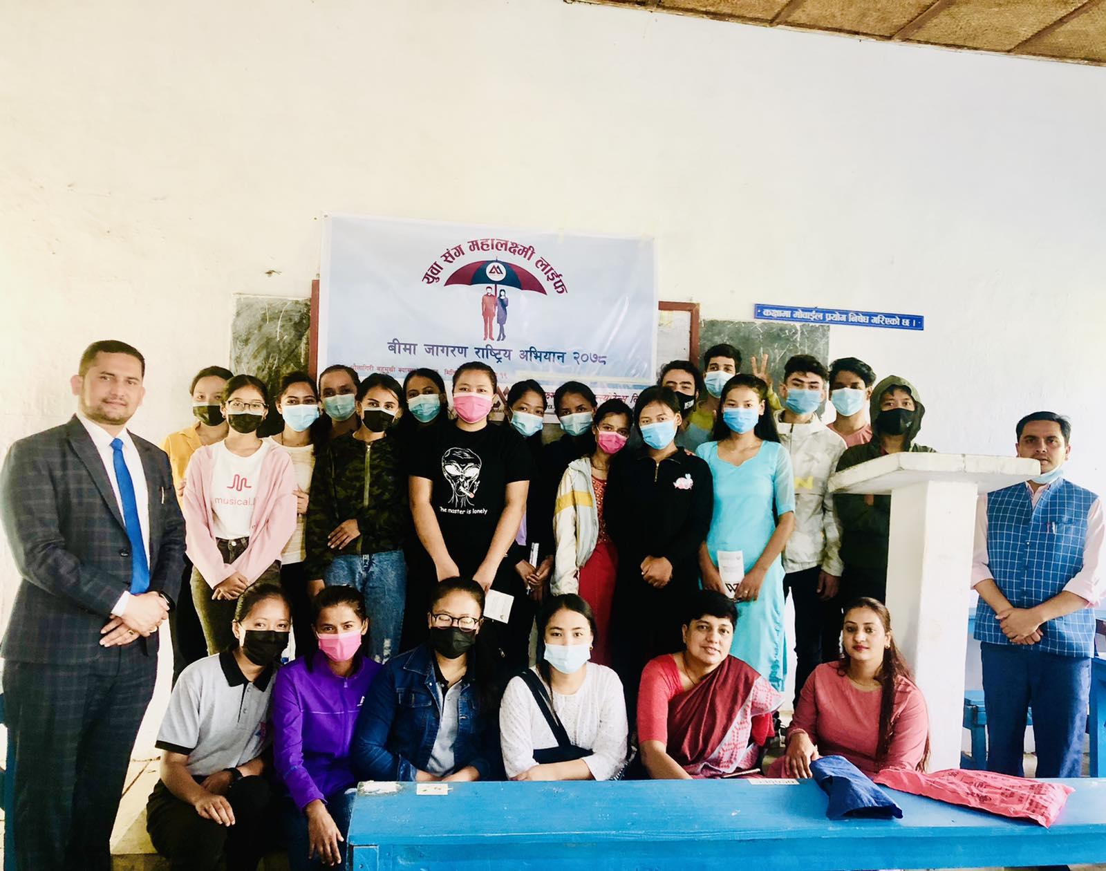 "Mahalaxmi Life Insurance Ltd. conducted ""Yuwa Sanga Mahalaxmi Life"" program in Beni and Baglung"